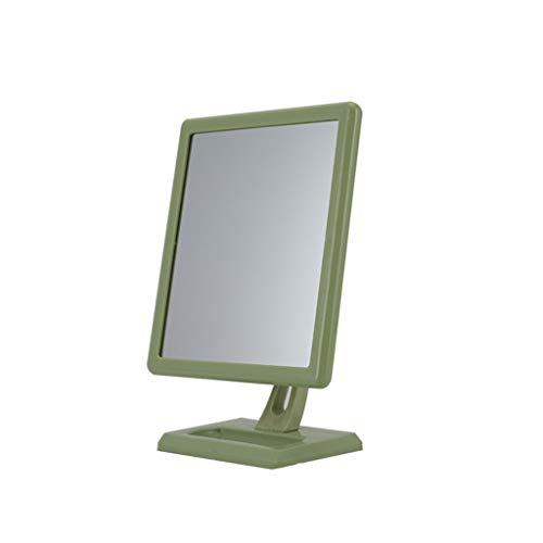 C-J-Xin Rectangle Miroir de maquillage, Vertical plastique Beauté Miroir 360 ° Vrille Hommes Miroir grossissant Miroir étanche salle de bains Miroirs à main pour salons de coiffure