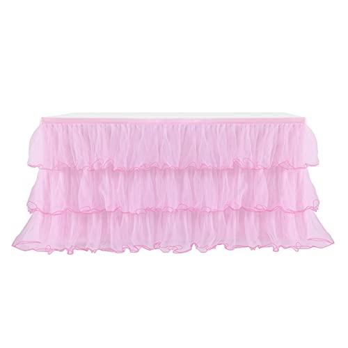 Kbsin212 Falda de mesa de tul sin arrugas, para Candy Bar accesorios,...