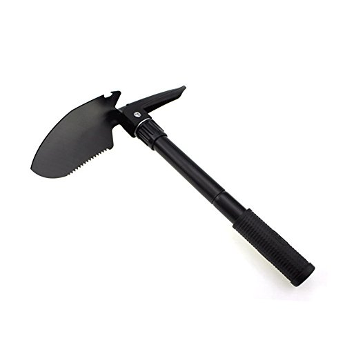 Camping Folding Shovel,Multi-Functional Survival Spade Military Mini Portable Stainless Steel Shovel...