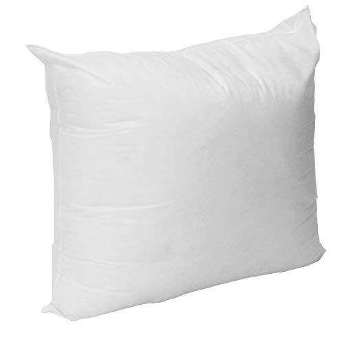 "Mybecca Premium Hypoallergenic Stuffer Pillow Insert Sham Square Form Polyester, 14"" L X 14"" W, Standard/White"