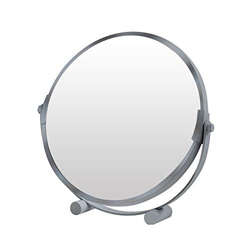 Redonda Espejo De Tocador Oro De Mesa, Espejo De Maquillaje De Doble Cara, Giratorio 360°, Espejo De Aumento De Cara Posterior 3X, Espejo Cosmético De Dormitorio 20cm, Espejo De Afeitar para Baño