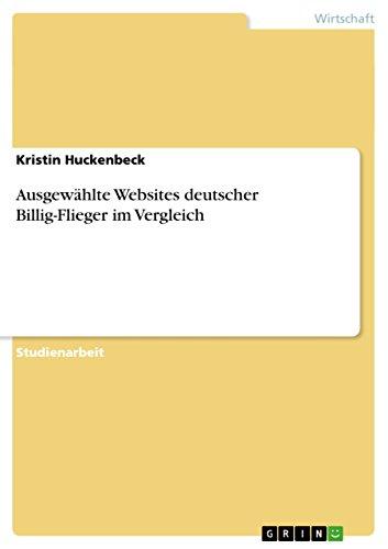 Ausgewählte Websites deutscher Billig-Flieger im Vergleich