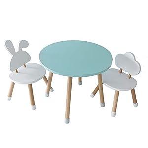 Facile da montare: il set di tavolo e sedie in legno KYWAI è estremamente facile da montare, basta ruotare le gambe al tavolo e alle sedie. Sicurezza dei bambini: pensato esclusivamente per i bambini, il tavolo e le sedie hanno tutti gli angoli arrot...