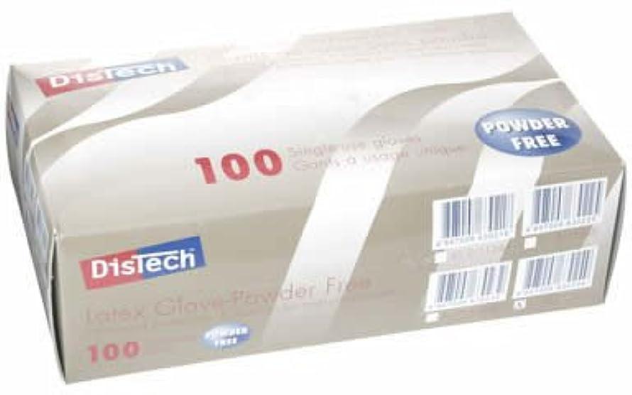 ポータル刺繍キャリッジD-1124DディステックラテックスグローブPF ポリマー加工 L寸 100枚/箱