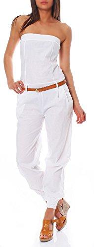 malito dames onesie in effen kleuren | Overall met riem | Jumpsuit lang - Romper - Broekpak 1585