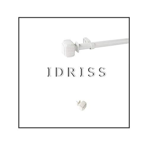 Maison Desyne Idriss 25 mm Barra para cortina (, blanco (efecto madera),...