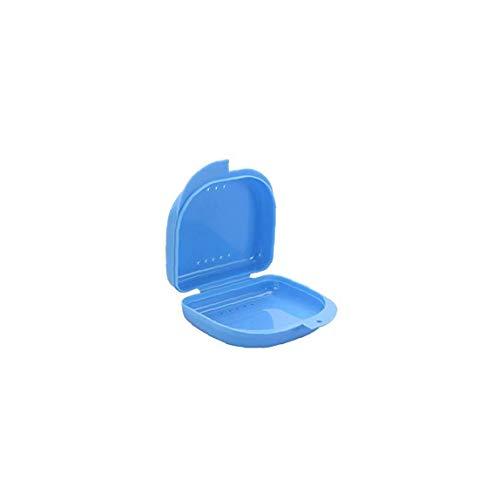 Tragbare Dental Gehäuse Kunststoff Gebiss-Box Dental KFO-Halter-Kasten-Zähne Retainer Container-1 Stück Blau