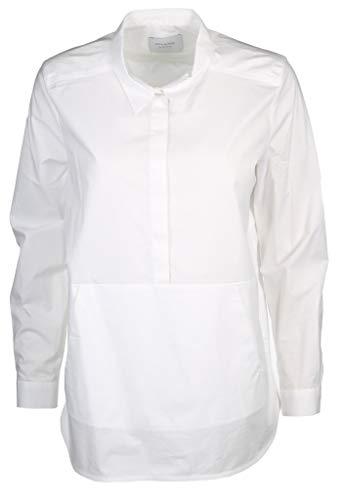 Milano Italy Damen Bluse Größe 42 EU Weiß (weiß)