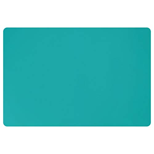 Silicone Mats for Countertop - 32 x 24 x0.07 , Extra Large Multipurpose Mat, Counter Table Protector, Desk Saver Pad, Placemat Nonstick Nonskid Heat-Resistant Kitchen Pad, Dark Green