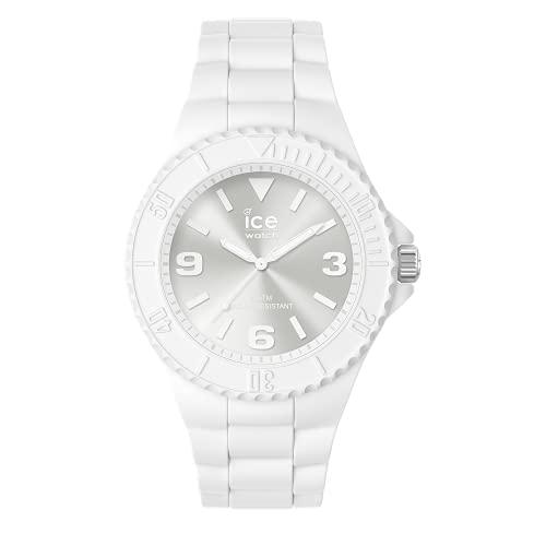 ICE-WATCH - ICE Generation White, Reloj para Hombre con Correa de Silicona, Medio (40 mm), Blanco, 019151