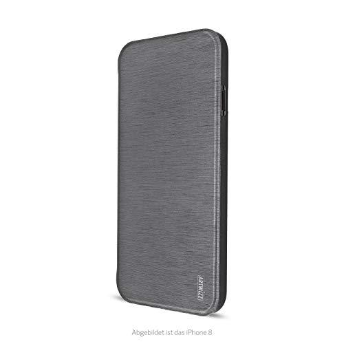 Artwizz SmartJacket Handyhülle geeignet für [iPhone SE (2020) / 8 / 7] - Schutzhülle in gebürsteter Metall-Optik - Titan