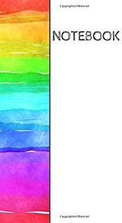 Notebook: Rainbow colors wrap around design notebook: 90 blank pages