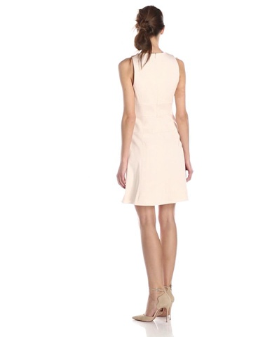 4.collective Womens Spring Faille Flirty Dress with Shirred Detail