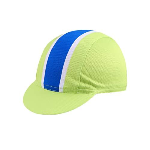 BESPORTBLE Fahrradkappe Bequeme Trainingshut Atmungsaktive Futterkappe Hüte Sportzubehör für Motorradfahren Radrennen Rennstil 8 (Hellgrün)
