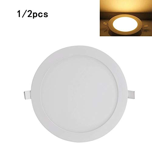 YOUXD 18 W Led Inbouw Plafond Ronde Ultra Slim LED Panel Licht Vlakke Plafondlamp Met Driver Daglicht Wit 3000 K LED Downlights Voor Home Office Commerciële Verlichting Niet-Dimbaar Warm Wit
