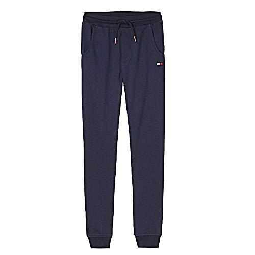 Tommy Hilfiger - Pantalón de chándal unisex para niños, mezcla de algodón, color azul marino