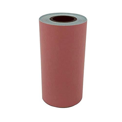 Schimer etiketten 57 x 30 mm zelfklevend, verzendsticker/verzendlabels, bedrukbare sticker-papierrol kassapapier voor papierang, mini wireless mobiele instant printer, thermo-kassarollen oranje