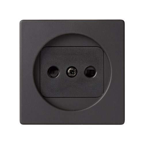 Simon – 82040 38 klapdeksel stopcontact Bipolar + veiligheid S-82 grafiet Ref. 6558238230