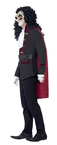 SMIFFYS Smiffy's 43744L - Veneziana Highwayman Costume Nero con Il Rivestimento del Capo & Collar, L