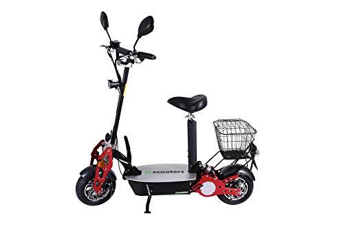 4MOVE Elektroroller Scooter 1800W48V Motor E-Roller mit Strassenzulassung und Turbo, Faltbarer Elektro Scooter, Stadt Elektrorolle, E-Scooter, LED-Scheinwerfer, Scheibenbremsen , schwarz (Black)