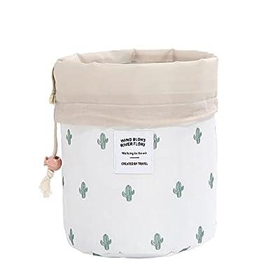 Amazon - Save 80%: Travel Cosmetic Organizer Colourful Cylinder Drawstring Cosmetic Bag…
