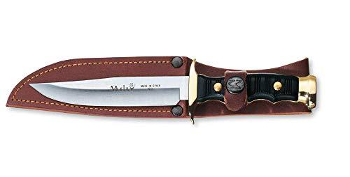 Victorinox Muela Outdoormesser, inkl. Lederscheide, 12 cm gerade Klinge, 23 cm Gesamtlänge, Edelstahl, schwarz