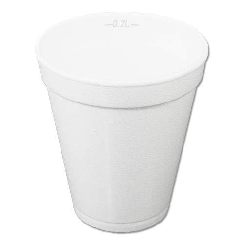 JG-Verpackungen 1000 Styroporbecher, weiß, 8oz - 0,2l Thermobecher, Glühweinbecher