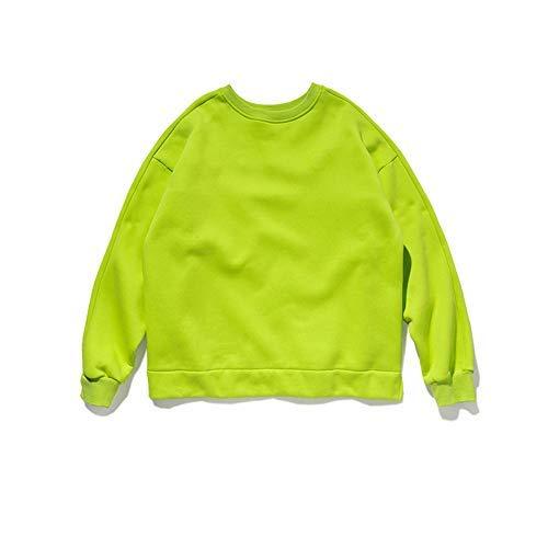 Subink Supreme Sweat-Shirt, Sweat-Shirts pour Femme, Sweatshirts pour Homme, Pull rayé, col Rond, Homme et Femme, Le même Pull décontracté Sport - Vert - XL