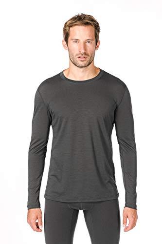 super. Natural T-Shirt M Base 140 T-Shirt à Manches Longues en Mérinos XL Charcoal