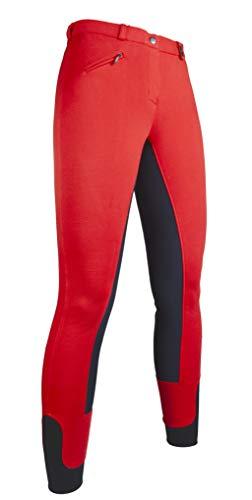 HKM Pantalon d'équitation Modèle Wülfer X 2017avec jambes élastiques pour femme et enfant en 5magnifiques couleurs 14 ans rot mit grauen Besatz