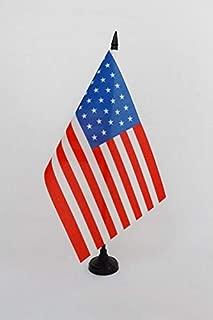 AZ FLAG United States 1861-1863 34 Stars Table Flag 5'' x 8'' - USA - American Historic Desk Flag 21 x 14 cm - Black Plastic Stick and Base