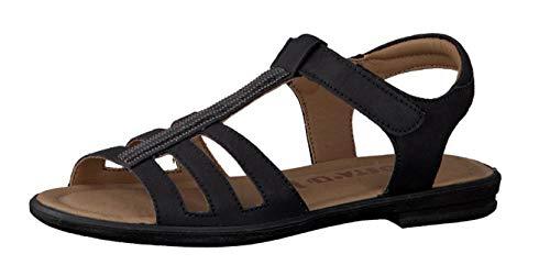 RICOSTA Mädchen Sandalen ANA 7020900, Kinder Riemchensandale,Römer-Sandale,Sandalette,Gladiatoren-Sandale,Sommerschuh,schwarz,37 EU