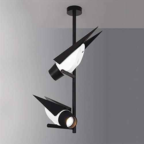 LED Foco de techo creativo 2 Lámpara en forma de ave Ajustable 355 ° Luz de iluminación de iluminación de iluminación de iluminación de iluminación de acento COB Downlight Moderno 2 * 7W [Clase de ene