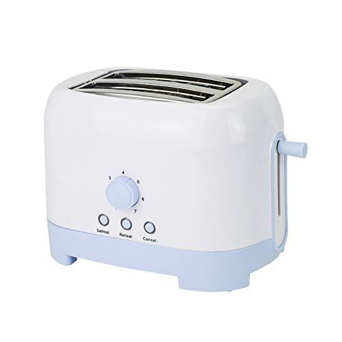 MUYIER 2 Slice Toaster, Acero Inoxidable Automático Tostadora Ajuste De Siete Velocidades De Temperatura Fácil De Limpiar Conveniente para El Hogar Cocina Desayuno Máquina
