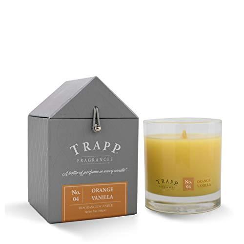 Trapp 7ounce Poured Candle, No. 4, Orange Vanilla