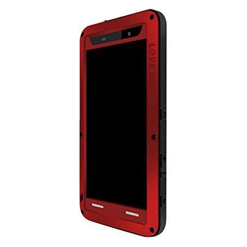 Gazechimp LOVEMEI Water/Dirt/Shock 3Proofs Gorilla Glass Hybrid Case Carcasa Exterior para Xperia Z4 - Rojo, para Xperia Z5