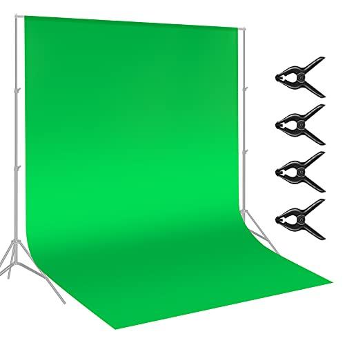 Neewer 3x3,6 metri Fondale Verde di Chiave Cromatica in Fibra per Studio di Video Fotografico, 4 pez Fondali Inclusi, Ideale per Ritratti e Riprese di Prodotti