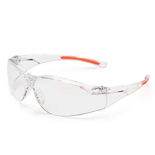 Univet 513.02.00.00 Schutzbrille Nr.513 mit klarem Glas inklar/orange