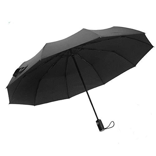 ZENGZHIJIE Paraguas Paraguas Plegable Paraguas Paraguas Compacto Paraguas Apretado Paraguas automático - Paraguas Conveniente Negro