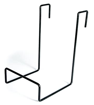 Camco - 21029 Heavy Duty Chair Rack- Hook on RV Ladder to Support Folding Chairs, Picnic Chairs, and Beach Chairs During Travel- Black (51490) by Camco