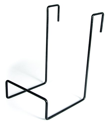 Camco - 21029 Heavy Duty Chair Rack- Hook on RV Ladder to Support Folding Chairs, Picnic Chairs, and Beach Chairs During Travel- Black (51490)
