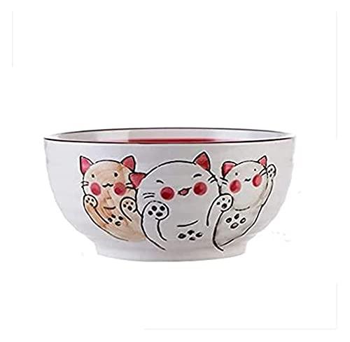 Ramen sopa tazón estilo japonés estilo de seguridad vajilla hogar grande sopa tazón fideos cuenco cerámica instantáneo fideos tazón gachas de avena estudiante cantor creativo ramen cuenco ensalada cue