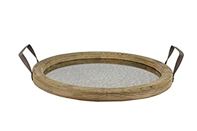 Rustic Oval Brown Wood Serving Tray