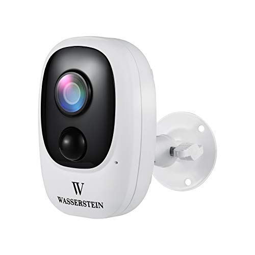 Wasserstein Outdoor Weatherproof Battery Camera with Micro SD Card Slot - 1080P Image Quality, IP66 Waterproof, PIR Motion Detection, and Two-Way Talk (SD Card NOT Included)