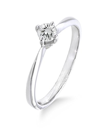 Platin Diamant Ring für Frauen 1/4 Karat Solitaire Engagement Ring