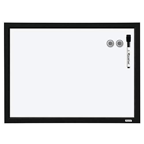 Quartet Magnetic Whiteboard, 17 x 23 inches White Board, Dry Erase Board, Black Frame (MWDW1723M-BK)