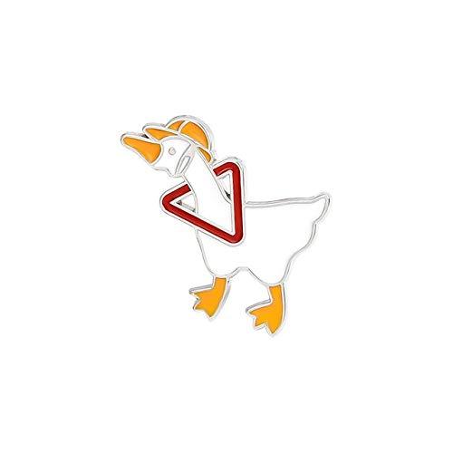 Pin de esmalte personalizado travieso ganso broche bolsa solapa pin dibujos animados divertido animal insignia joyería regalo para niños amigos