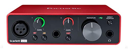 Focusrite SCARLETT SOLO 3rd Gen 192kHz USB Audio Interface w/Pro Tools First