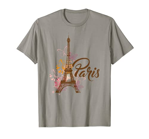 Vintage Paris Tshirt I Love Travel Wanderlust Eiffel Tower