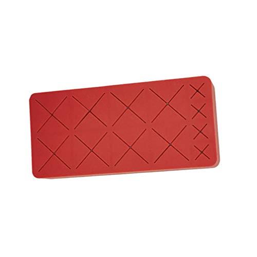 TopbathHY Porte-rouge à lèvres 12 grilles en silicone pour pinceaux cosmétiques et crayons à sourcils Rouge